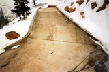 Heated concrete driveway